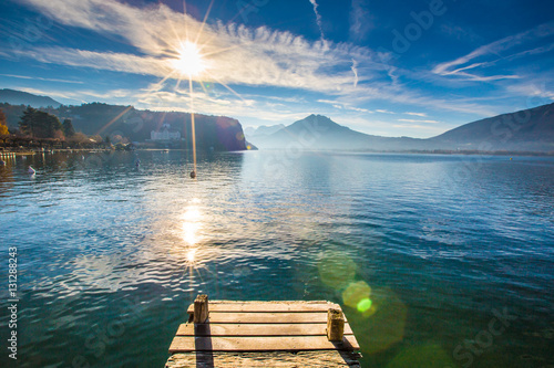 Obraz na płótnie Lac à Menthon Saint Bernard