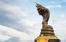 King Naga Landmark At Nakhon P...