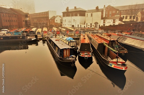 Fotografering Autumnal silence in Birmingham`s Gas Street Basin
