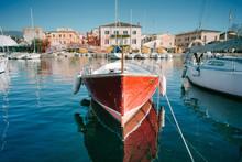 Sailboats And Fishing Boats At...