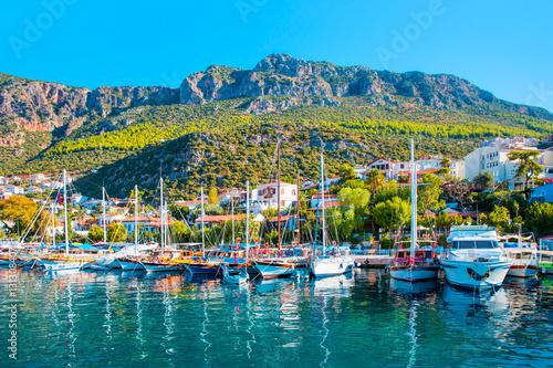 Poster Turquie resort town, Kas Antalya