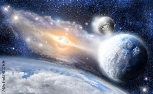 Fototapety, obrazy: Blue frozen Planets earth