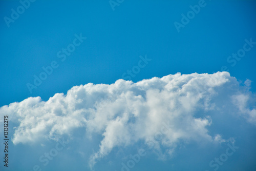 Wall Murals Heaven The blue sky and white cloudy under the sky at the day
