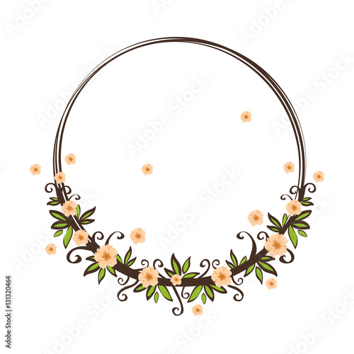 Fototapety, obrazy: Beautiful flowers ornament icon vector illustration graphic design