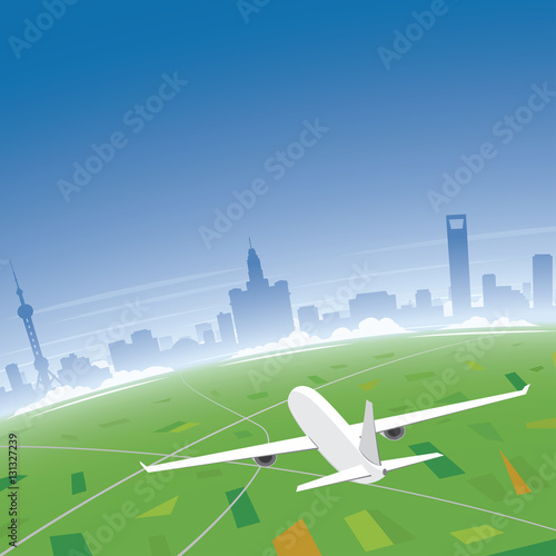 Photo  Shanghai Skyline Flight Destination