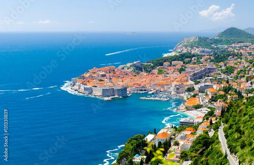 Obraz Widok na Stare Miasto Dubrownik w Dalmacji, Chorwacja - fototapety do salonu