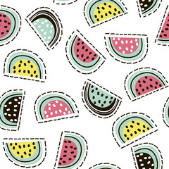 FototapetaModern fruit seamless pattern. Background with pears. Great for kids fabric, textile, etc. Vector Illustration
