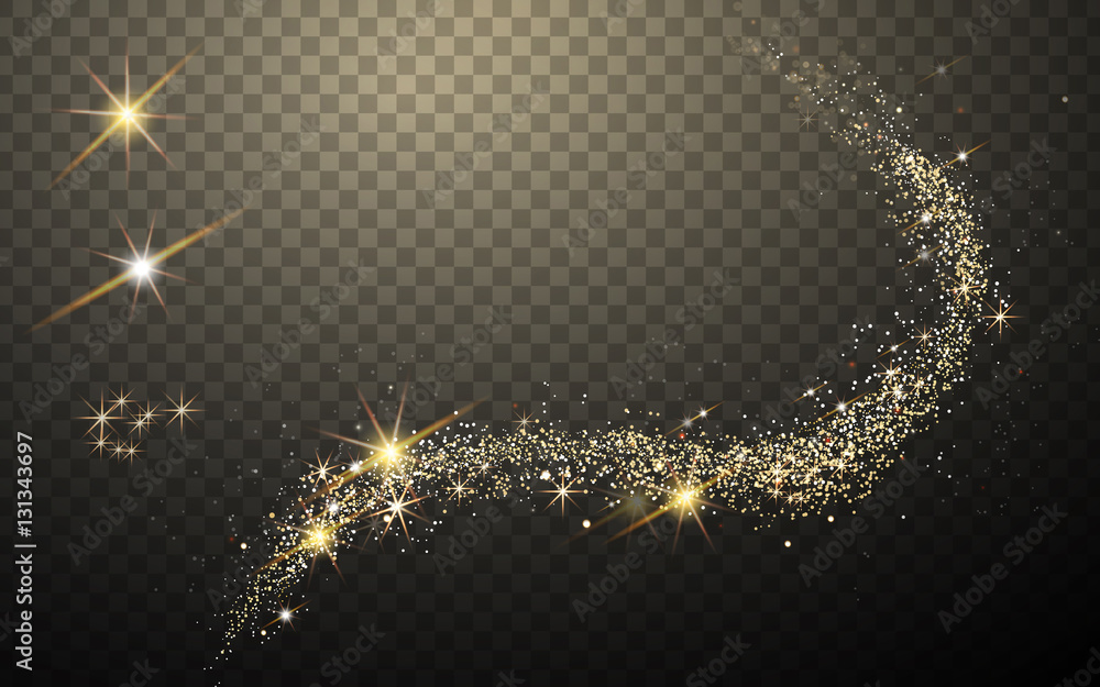 Fototapety, obrazy: golden light streak