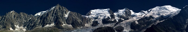 Panel Szklany Panorama du Massif du Mont Blanc