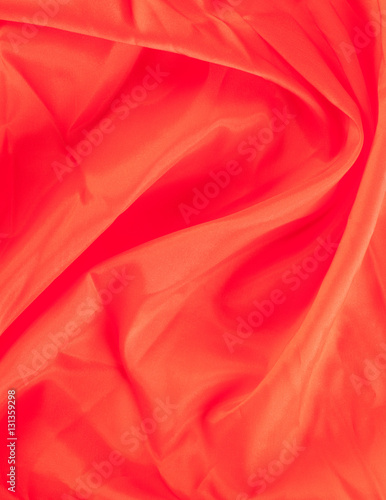 Poster Antilope The texture of the silk fabric, red