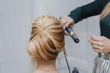 Closeup Of Professional Hairdr...