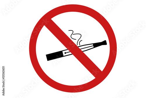 Fotografía  pictogramme interdiction de vapoter