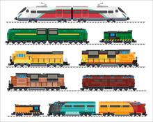 Railway Transport: Locomotives, Trains, Wagons
