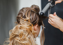 Closeup Hairdresser Coiffeur M...