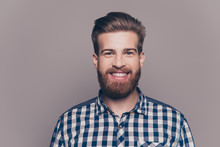 Portrait Of Handsome Smiling Young Man Looking At Camera Isolate