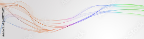 Colorful wave on grey background