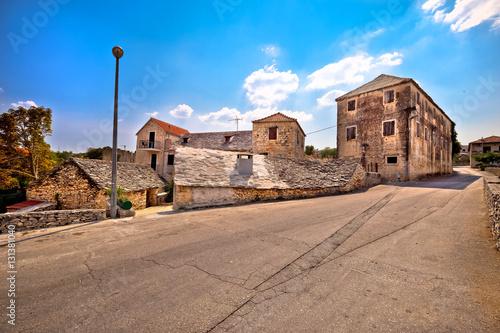 Photo Stands Ass Skrip village on Brac island street view