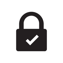 Lock Icon With Transparent Check Mark