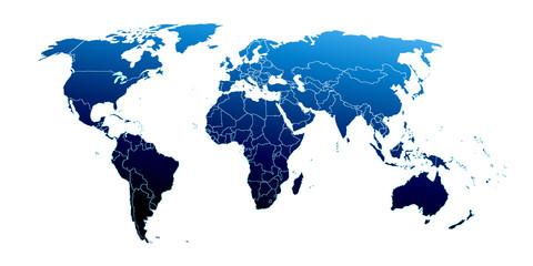 Fototapeta samoprzylepna World map