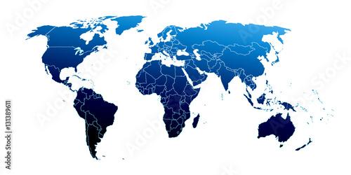 Naklejka premium Mapa świata
