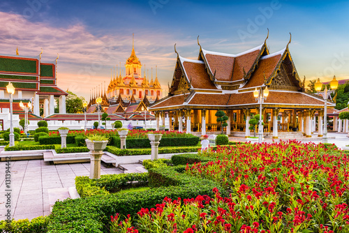 Loha Prasat Metal Temple in Bangkok, Thailand. Canvas Print
