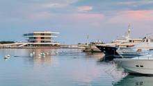 The Harbor Of  Valencia In Spa...