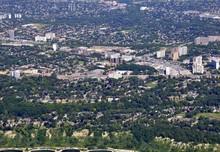 Aerial View Of Scarborough Ontario, Canada