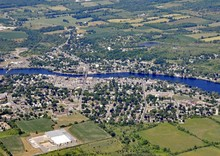 Aerial View Of  Campbellford Ontario, Canada
