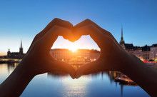 Heart Shape Hand  In Stockholm City