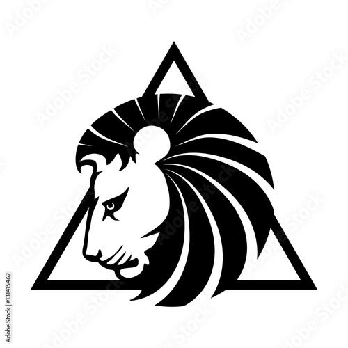 Fotobehang Draw Lion Logo