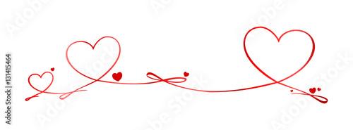 Obraz na płótnie Valentinstag Schleife Herzen