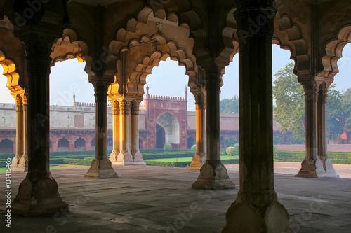 Autocollant pour porte Delhi Diwan-i-Am - Hall of Public Audience in Agra Fort, Uttar Pradesh