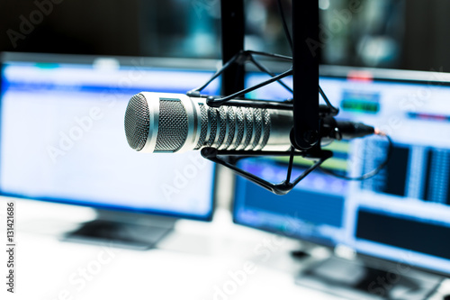 modern equipment in broadcast studio Canvas Print
