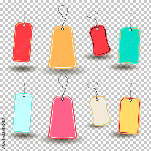vector set tags template for price tag gift tag address label