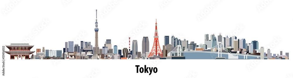streszczenie wektor panoramę Tokio