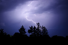 Thunder And Lightning In The Night Sky