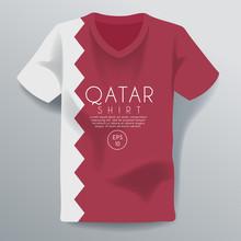 Qatar Shirt : National Shirt T...
