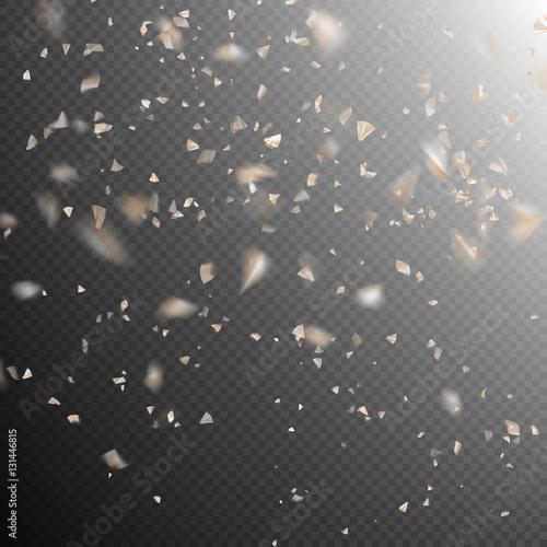 Fototapeta Golden explosion of confetti. EPS 10