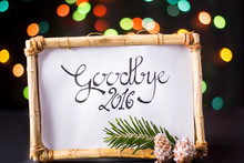 Goodbye 2016 With Star Colorful Bokeh