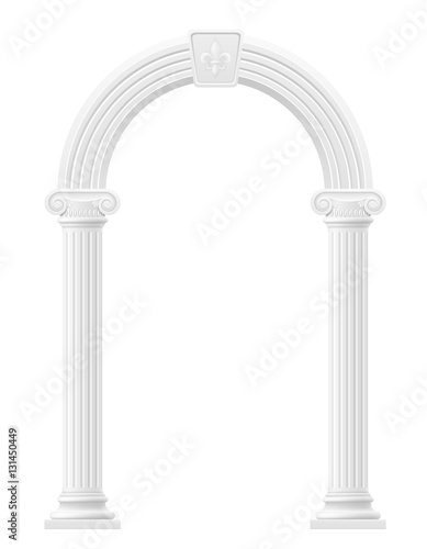 Photo  antique arch stock vector illustration