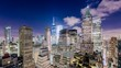 New York City Lower Manhattan Financial District skyline time lapse.