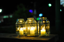 Candle In Jar Night