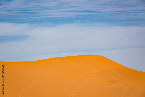 Foto op Aluminium Koraal Sand dunes of the Sahara desert, Morocco
