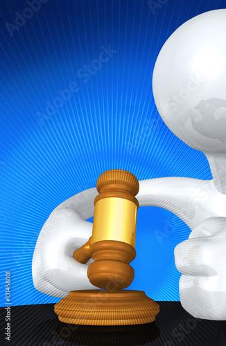 Fotografija  Law Legal Concept With The Original 3D Character Illustration