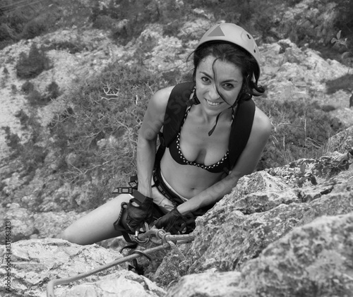 Photo sur Aluminium Alpinisme Marga In Arrampicata 10 BN 2010