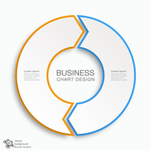 Business Chart Design 2-Step #Vector Graphic