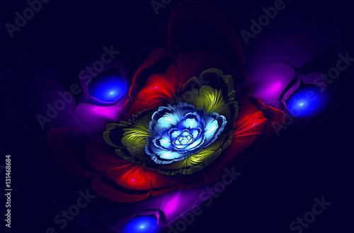 Fotografie, Obraz  Abstract fractal flower