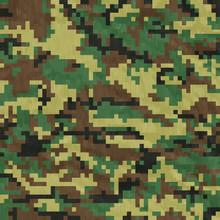 Seamless, Digital Camouflage P...