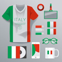Italy : National Corporate Products : Vector Illustration