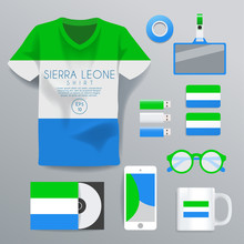 Sierra Leone : National Corporate Products : Vector Illustration